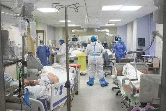 Benas Gerdžiūnas/Reanimaijos skyrius dirbantis su Covid-19 pacientais Respublikinėje Panevėžio ligoninėje