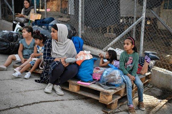 """AFP/ """"Scanpix"""" nuotr./Migrantų stovykla Graikijoje"""