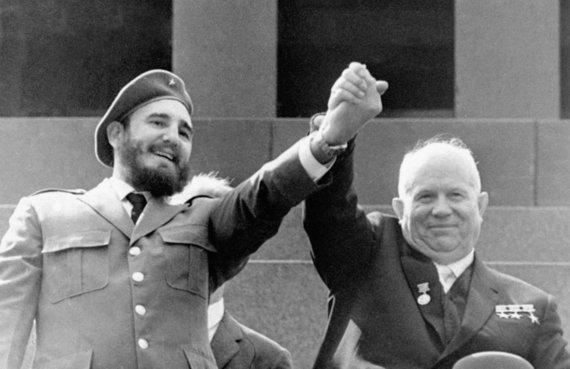 """""""Scanpix""""/AP nuotr./Fidelis Castro ir Nikita Chruščiovas (1963 m.)"""