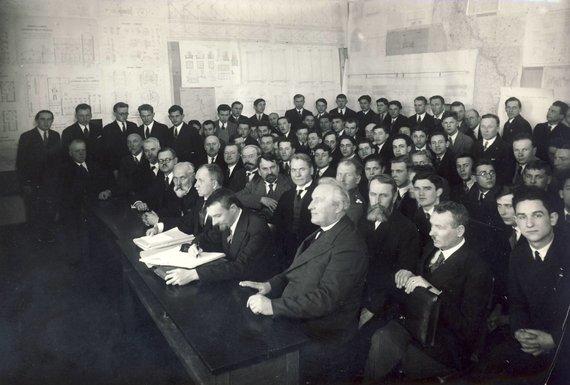 KTU muziejaus archyvo nuotr./Diplominių projektų gynimas Technikos fakultete, 1938 m.