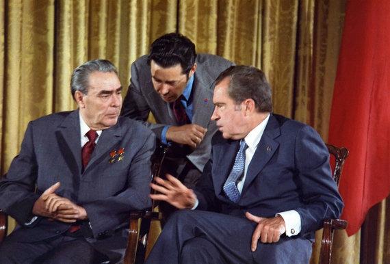 Wikipedia.org nuotr./Leonido Brežnevo ir Richardo Nixono susitikimas (1973 m.)