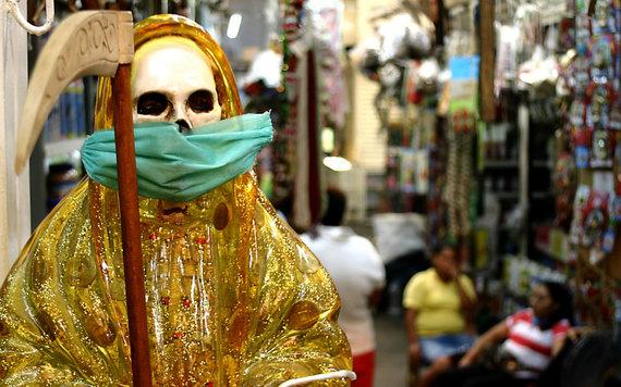 "AFP/""Scanpix"" nuotr./La Santa Muerte"