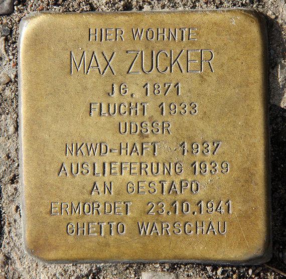 "Wikipedia.org nuotr./Maxo Zuckerio ""atminimo akmuo"" Berlyne"