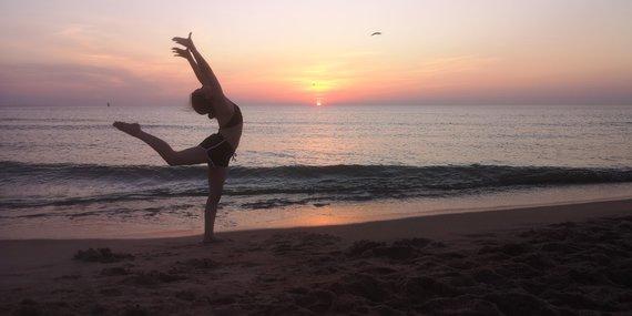 15min nuotr./Šiltas vakaras Melnragės paplūdimyje
