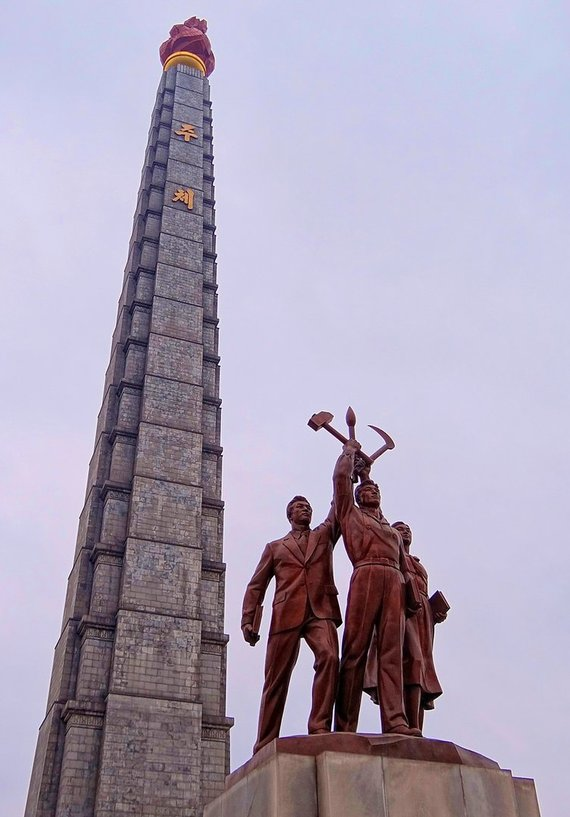 Wikipedia.org nuotr./Čučhė idėjų obeliskas Pchenjane