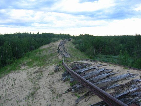 Wikipedia.org nuotr./Šiaurės geležinkelio likučiai