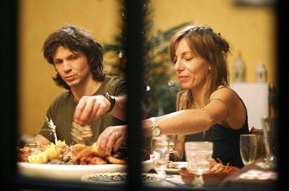 """Scanpix"" nuotr./Bertrand'as Cantat ir Krisztiną Rády per 2006-ųjų Kalėdas"