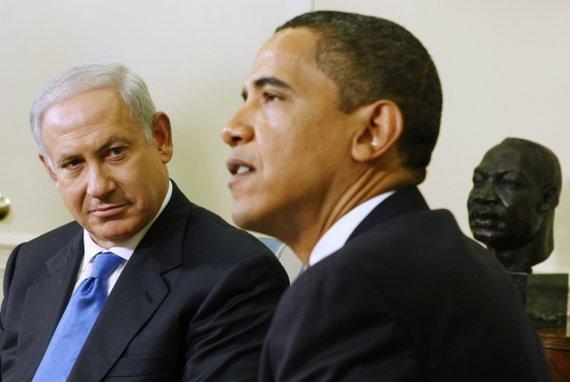 """Reuters""/""Scanpix"" nuotr./Benjaminas Netanyahu ir Barackas Obama"