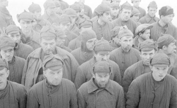 sotasampo.fi nuotr./Raudonosios armijos kariai suomių nelaisvėje