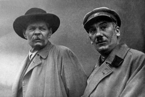 Wikipedia.org nuotr./Maksimas Gorkis ir Genrichas Jagoda