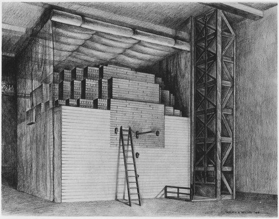 Wikipedia.org pieš./Eksperimentis reaktorius, kuriame Enrico Fermi komanda įvykdė pirmąją kontroliuojamą grandininę reakciją