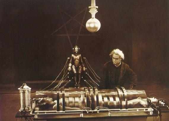 """Kadras iš filmo/Legendinis filmas """"Metropolis"""""""