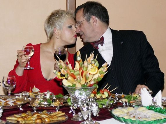 """AFP/""""Scanpix"""" nuotr./Estijos prezidentas Toomas Hendrikas Ilvesas su žmona Evelin"""