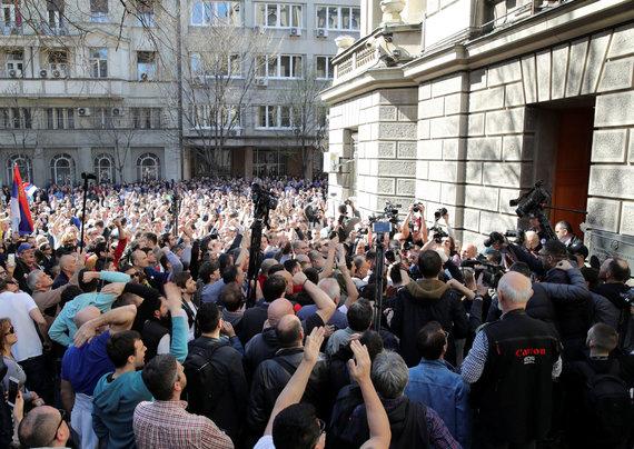 """Reuters""/""Scanpix"" nuotr./Protestas Serbijoje"