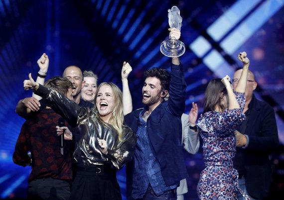 """""""Scanpix""""/AP nuotr./Nyderlandų atstovas Duncanas Laurence'as, nugalėjęs """"Eurovizijoje"""""""