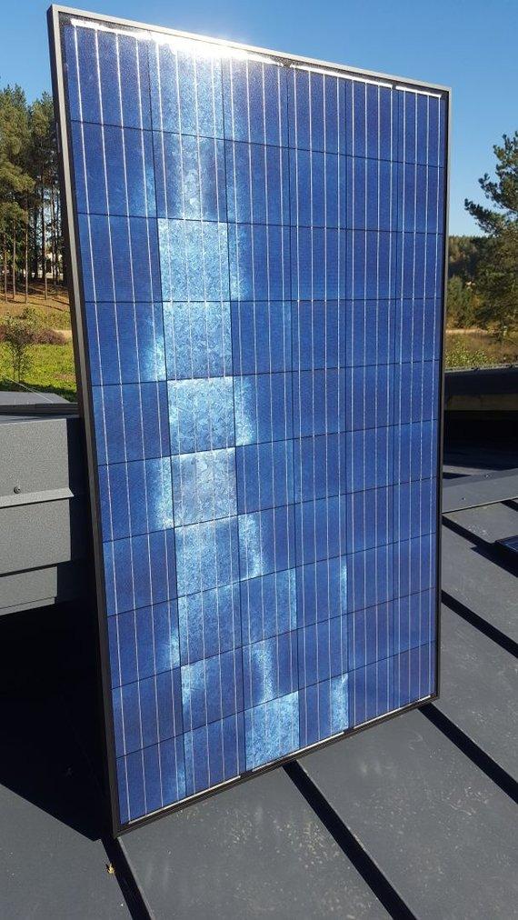 Bendrovės nuotr./D.Grybauskaitės namą energija aprūpins unikalaus dizaino saulės elektrinė.