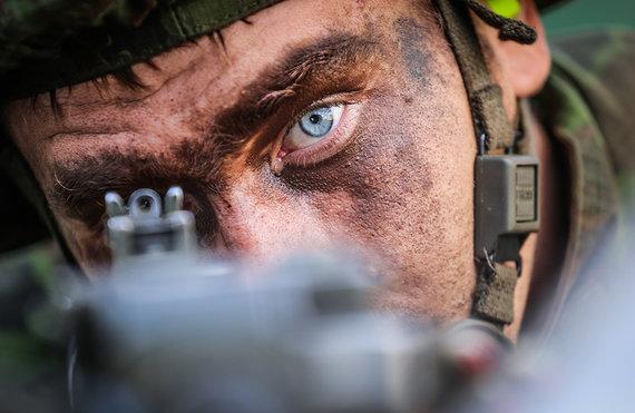 Ievos Budzeikaitės nuotr./Šilalės mieste ir apylinkėse vyksta taktinės karinės ir ekstremalių situacijų valdymo ginkluoto konflikto metu pratybos.
