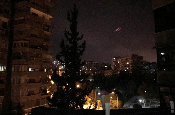 """""""Reuters""""/""""Scanpix"""" nuotr./JAV smogė taikiniams Sirijoje"""