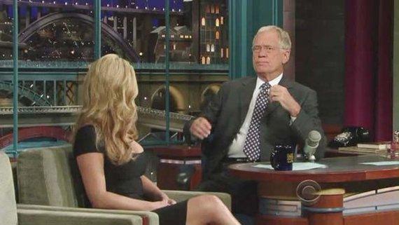 """""""Scanpix"""" nuotr./Davidas Lettermanas savo laidoje"""