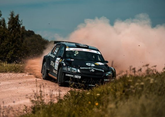 """Benediktas Vanagas ir Mindaugas Čepulis """"Rally Estonia"""""""