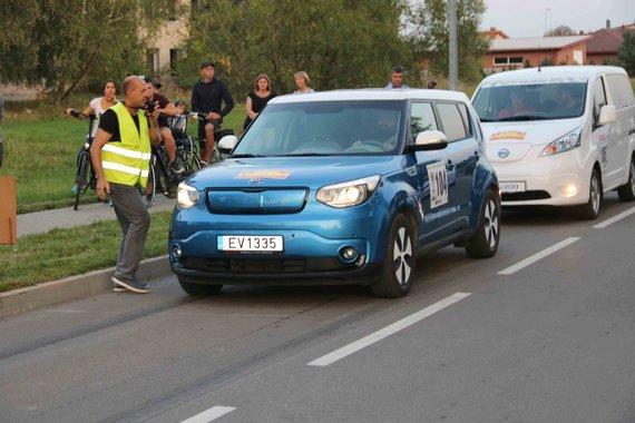 "Zigmo Kontrimo nuotr./Ralis ""Aplink Lietuvą"", elektromobilių slalomas"