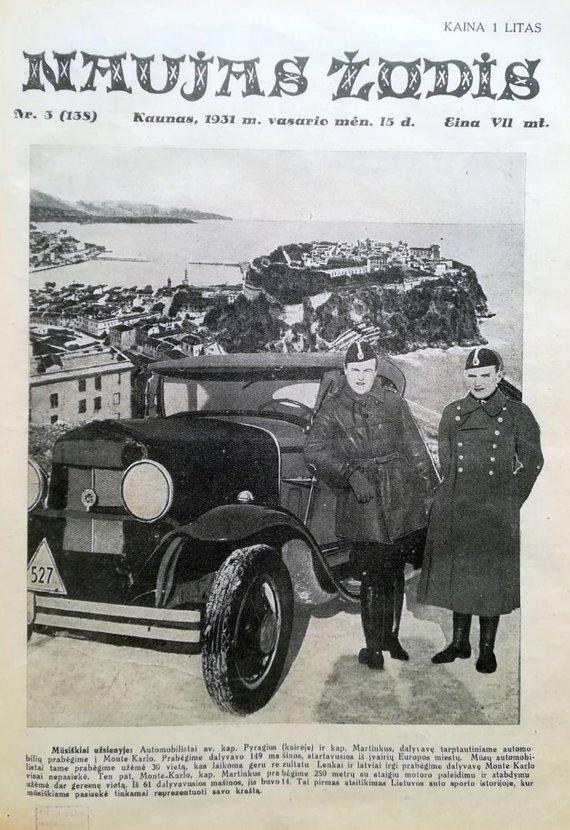 R.Žičkaus archyvo nuotr./Klemas Martinkus ir Jonas Pyragius (1931 m.)