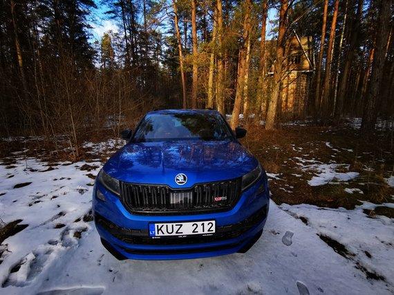 """Žilvino Pekarsko / 15min nuotr./""""Škoda Kodiaq RS"""" žygis per Lietuvą, Artilerijos stotis prie Glūko ežero"""