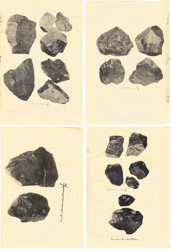 """Nuotr. iš prof. M.Kaveckio brošiūros """"Žemaitkiemio meteoritas. Der Meteorit von Žemaitkiemis""""/Didžiausias Žemaitkiemio meteorito fragmentas sveria daugiau nei 7 kg."""
