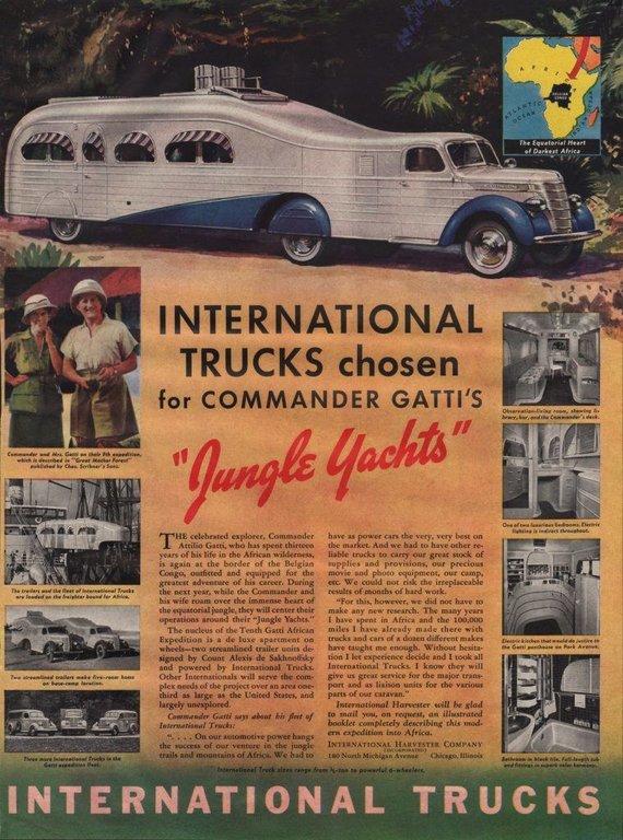 """International Harvester Jungle Yachts"" reklama."