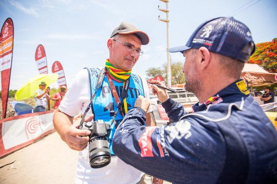 Andriaus Lauciaus nuotr./Žurnalistas Žilvinas Pekarskas Dakaro ralyje Peru su Stephane'u Peterhanseliu