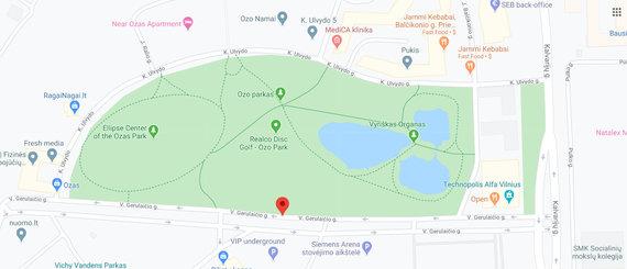 Google Maps iliustr./Ežerai, pavadinti Vyrišku organu