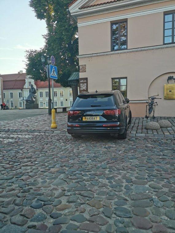 Emigranto Audi su registracijos numeriais