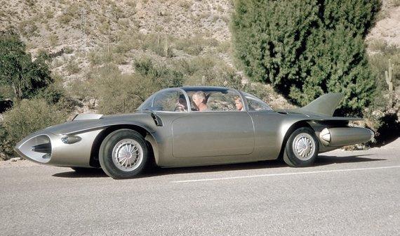 Firebird II buvo keturvietis šeimyninis automobilis. (General Motors nuotrauka)