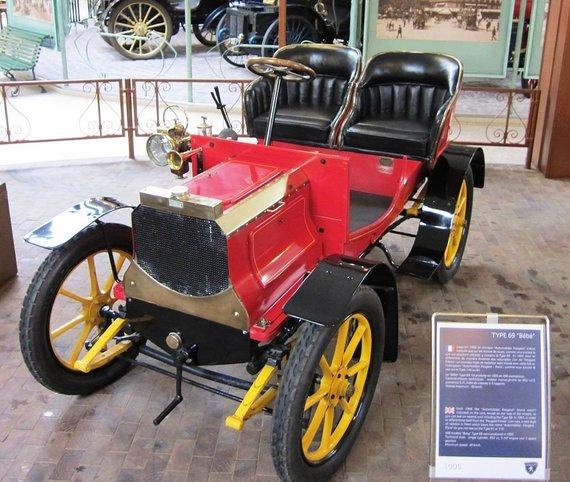 Peugeot Type 69 Bébé, pagamintas apie 1905 metus. (Charles01, Wikimedia (CC BY-SA 3.0)