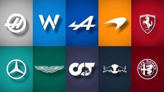 AF1.LIVE iliustr./2021 m. F1 logotipai