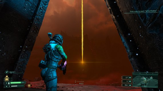 """Žaidimo nuotr./7. Šviesos stulpas šauna dangun it koks """"Journey"""" šauklys kviečiantis link tikslo... bet ar tikrai?"""
