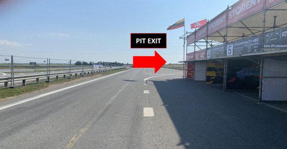 LASF nuotr./Pažeidimo iliustracija (PIT exit)