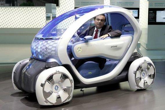 """""""Scanpix"""" nuotr./Renault elektrinis automobilis Twizy Z.E."""