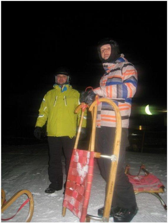 Martyno Bejerio nuotr./Skivelto slidinėjimo regionas Austrijoje, naktinis rogių safaris