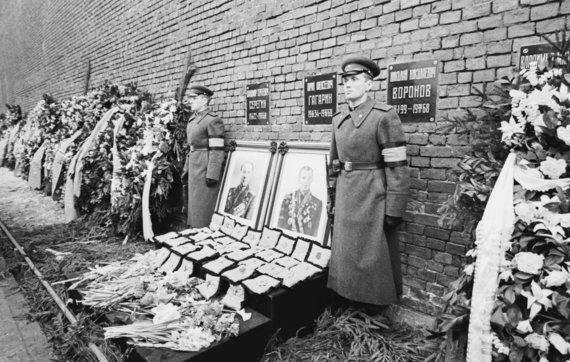 Vida Press nuotr./Kosmonauto Jurijaus Gagarino laidotuvės