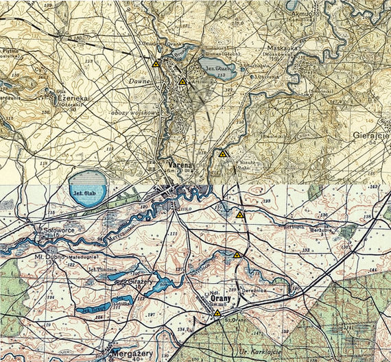 Projekto OlitaOrany nuotr./Žemėlapis: geležinkelis Olita-Orany