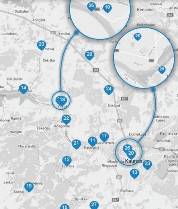 Mototurizmo užduočių žemėlapis