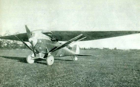 """Žurnalo """"Plieno sparnai"""" iliustr./J.Dobkevičiaus lėktuvas DOBI II"""