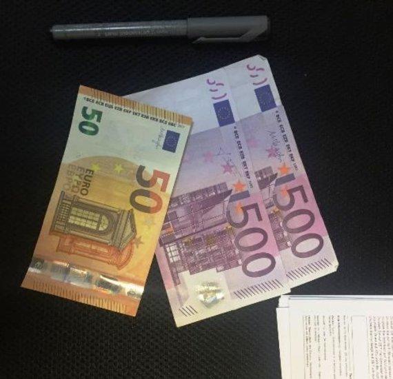 Skaitytojo Vaido iliustr./Vaidas sukčiams nusiuntė ir pinigų nuotrauką.