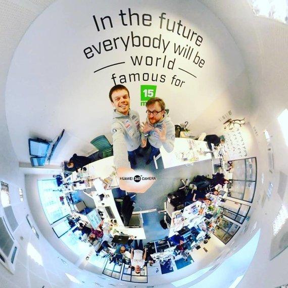 Ž.Pekarsko/HuaweiMate10Pro nuotr./Vaidotas Žala ir Saulius Jurgelėnas 360 laipsnių kampu