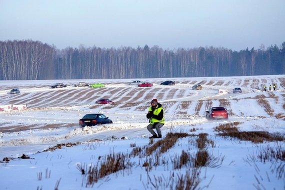 Greituminis slalomas Varėnoje, Dainiaus Kleponio nuotr.