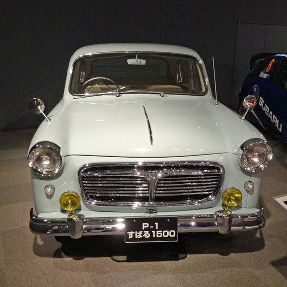 Pirmasis Subaru automobilis nebuvo labai išvaizdus, bet puikiai tiko taksi. (PekePON, Wikimedia(CC BY-SA 4.0)