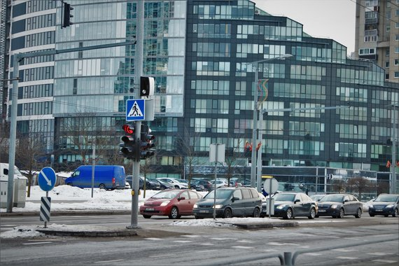 Fabula nuotr./Išmanusis greičio matuoklis Vilniuje