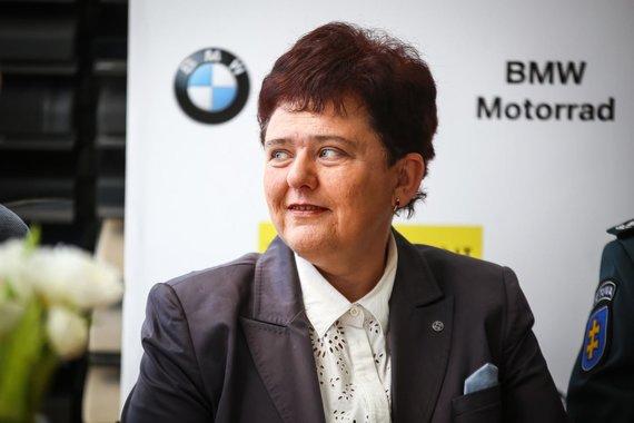 """Egidijaus Babelio nuotr./Diana Varnaitė, """"BMW Mototurizmo sprinto"""" spaudos konferencija"""