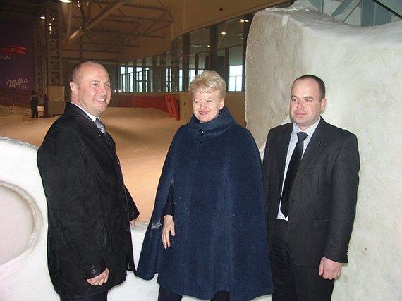 Druskininkų savivaldybės nuotr./Prezidentė Dalia Grybauskaitė gyrė Ričardą Malinauską (kairėje), bet nurodė jam, kad miesto šilumos ūkis – monopolizuotas.